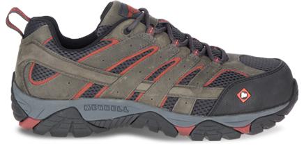 A Moab Vertex Vent Comp Toe Work Shoe featuring COMFORTBASE.