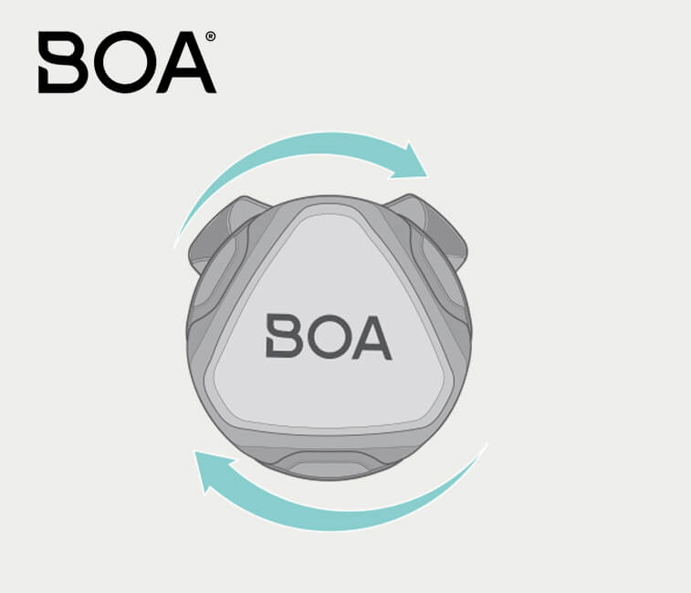 BOA logo and dial tech.