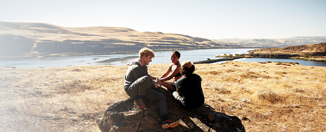 Merrell Members enjoy some rest after a hike