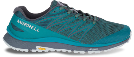 A blue Bare Access XTR shoe featuring Flexconnect.
