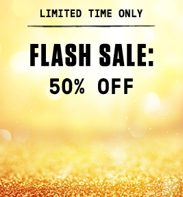 Limited time only: Flash sale - 50% off.