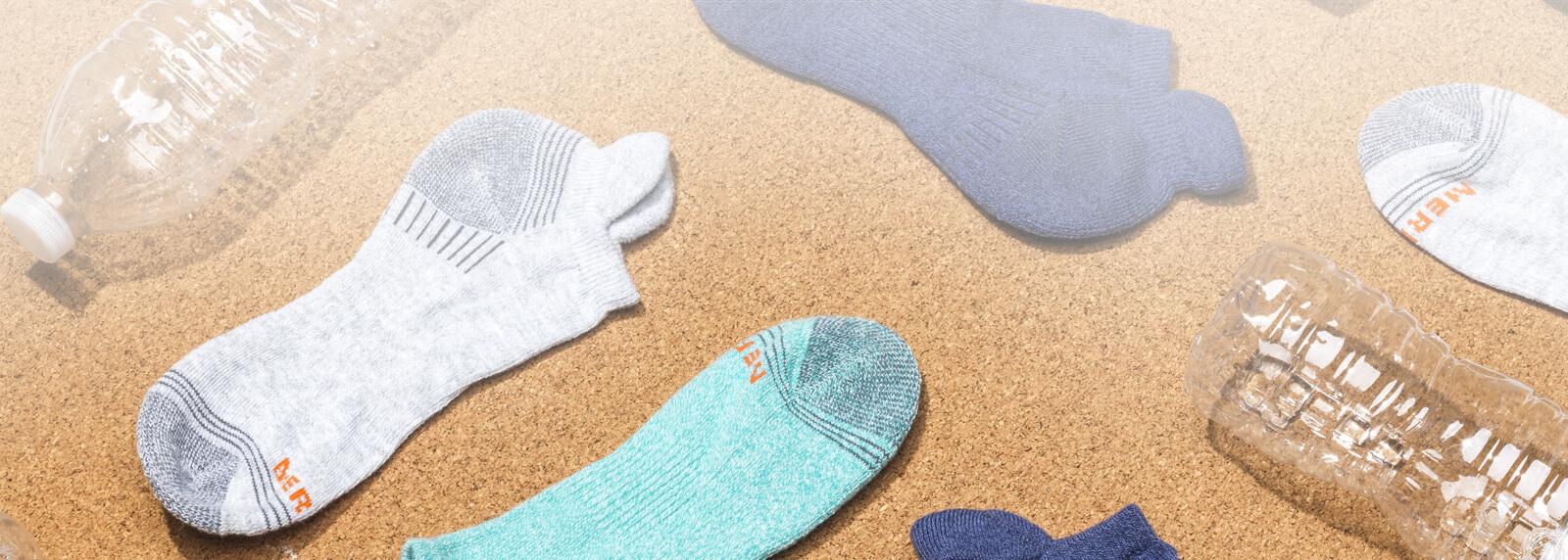 Socks on sand.