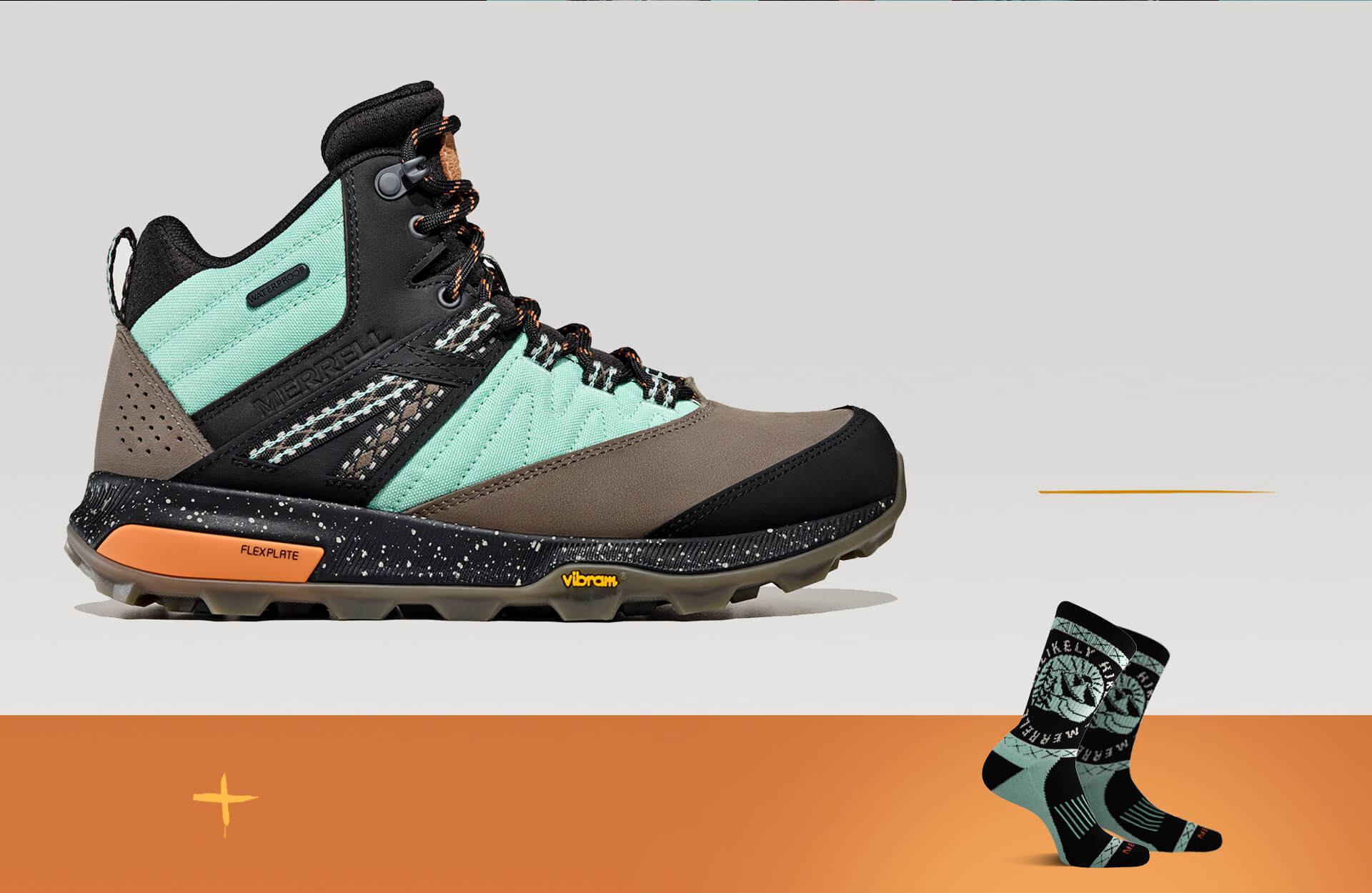 Zion hiking shoes and Unlikely Hikers socks in matching blue and black.