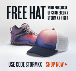 FREE HAT with Purchase of Chameleon 7 Storm XX Hiker Use code STORMXX | Shop Now