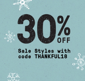 30% Off | Use Code THANKFUL18
