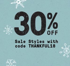 30% Off | Use Code THANKFUL18